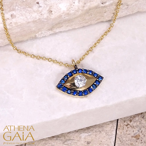 Mati Solid Evil Eye Pendant Necklace
