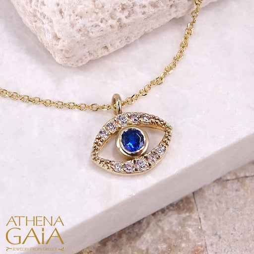Mati Open Evil Eye Pendant Necklace