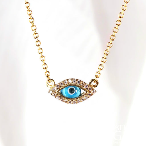 Matiaki Blue Evil Eye & Cross Necklace