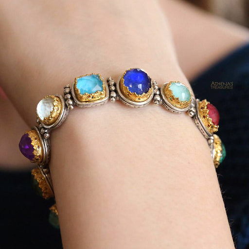 Pop Rocks Gold Multi-Shape Link Bracelet