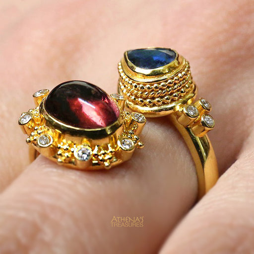 Mother and Child Tourmaline Bypass Ring