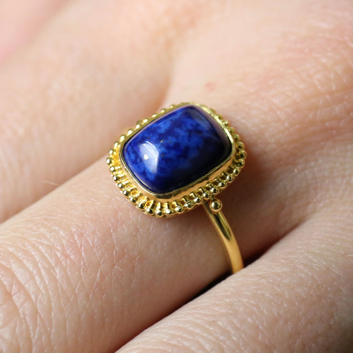 Micro Lapis Granulation Border Ring
