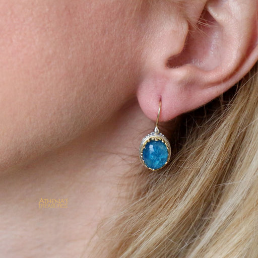 Pop Rocks Oval Crown Earrings