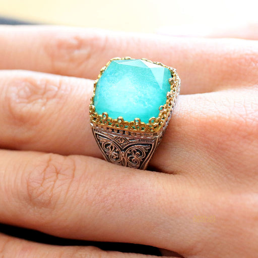 Pop Rocks Soft Square Crown Ring