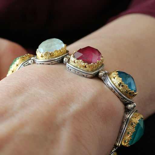 Pop Rocks Multi-Colored Link Bracelet