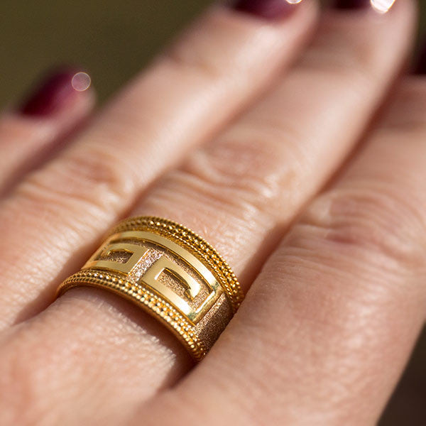 Greek Key Band Ring