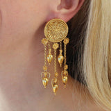18k Gold Anthem Burst Amphora Museum Earrings