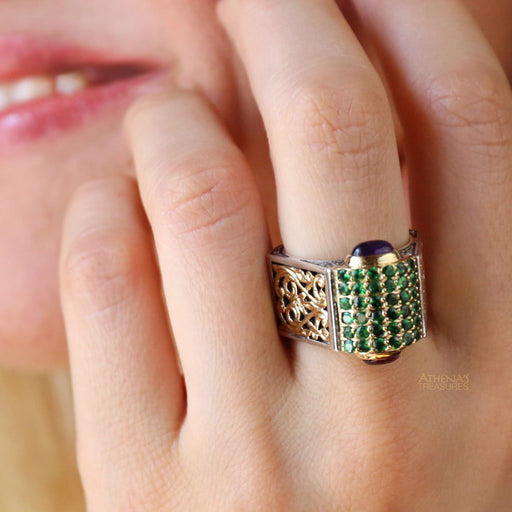 Emerald Claw Ring