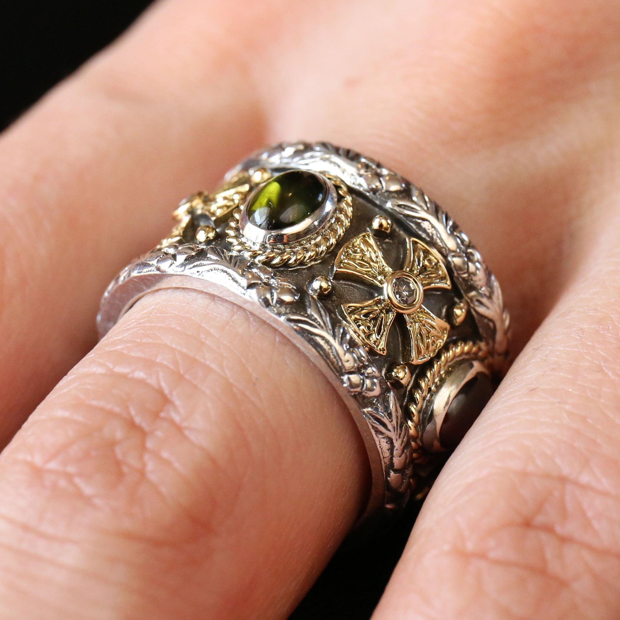 Maltese Cross Band Ring