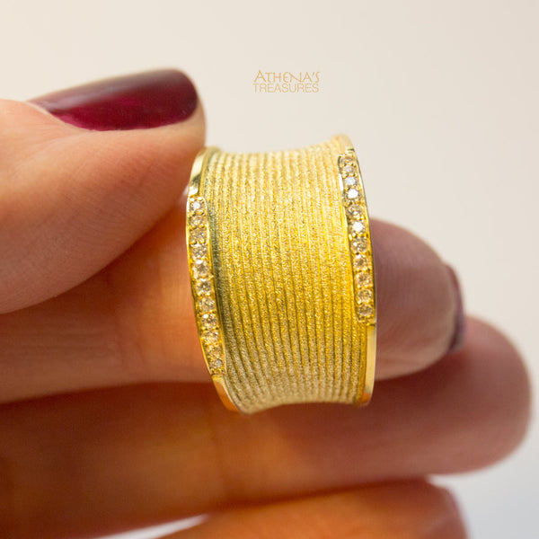Rippled Sand Band Ring