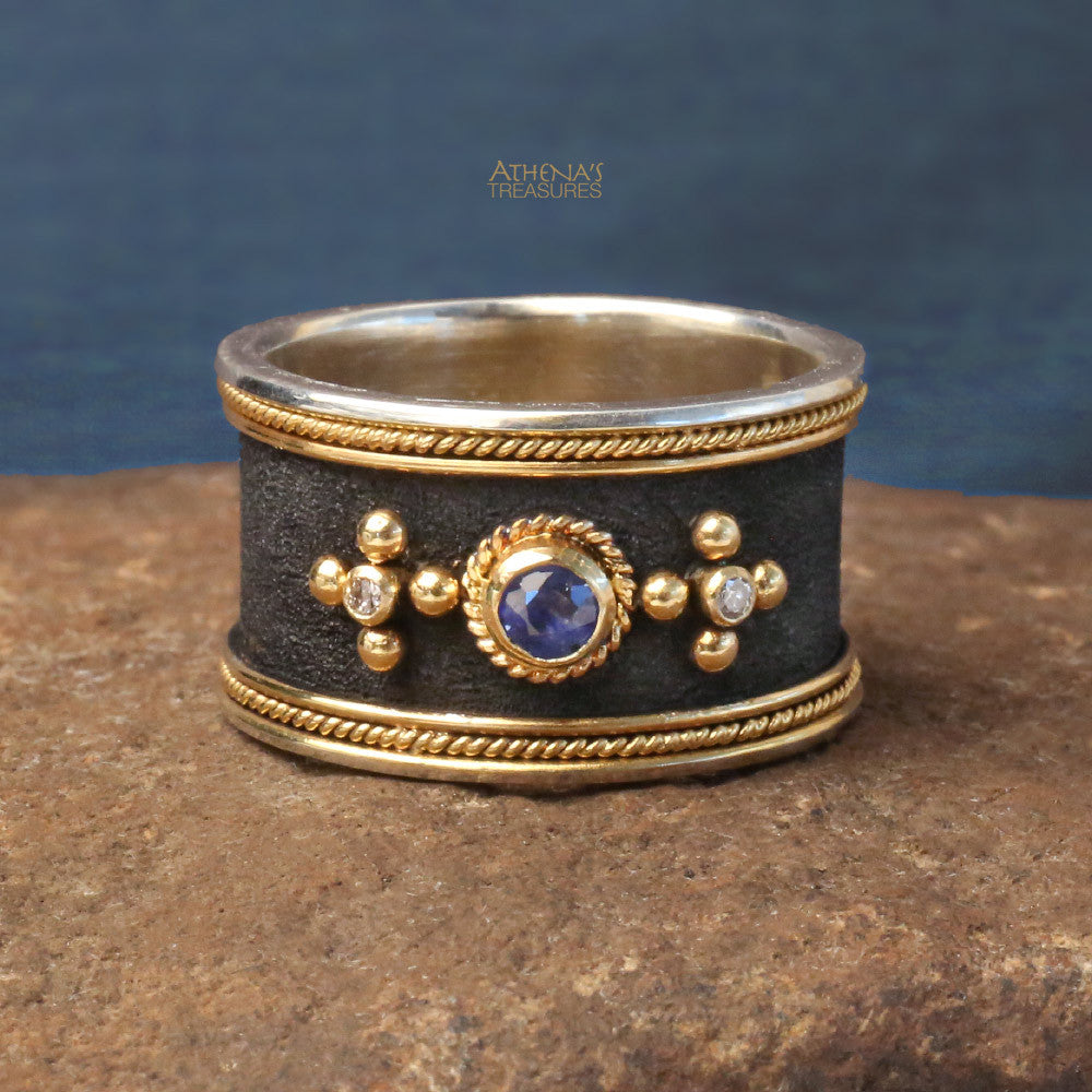 Diamond Nautical Band Ring