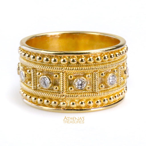 Large Carat Diamond Block Ring
