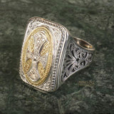 Diamond Maltese Cross Ring