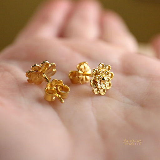 Double Rosette Post Earrings