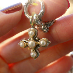 Elevated Pearl Cross