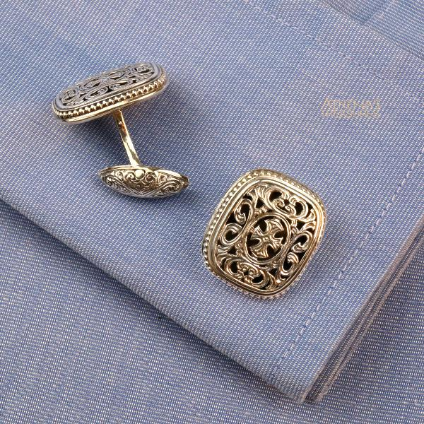 Garden Shadows Maltese Sterling Silver Cross Cufflinks