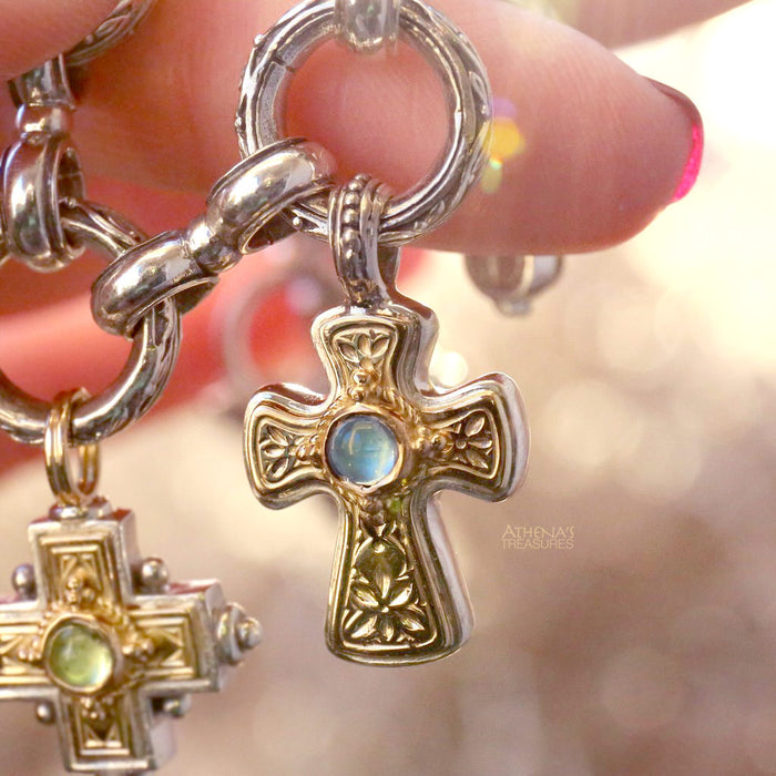 Birthstone Flared Western Cross