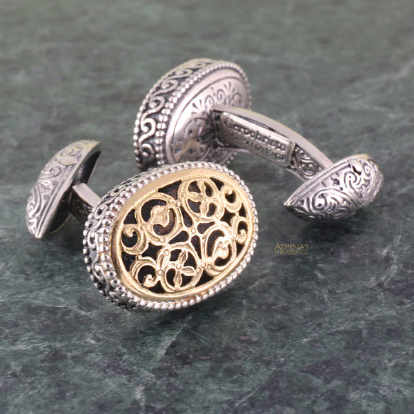 Garden Shadows Oval CuffLinks