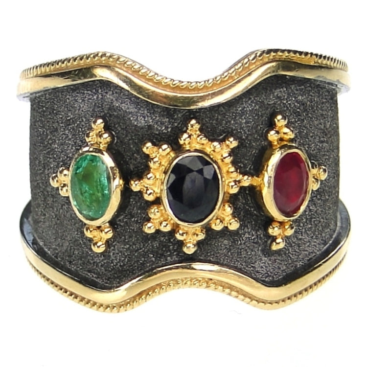 Triple Stone Vamp Ring