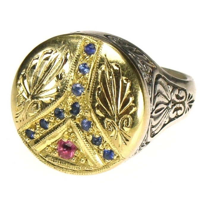 Evangelatos Anthemion Peace Ring