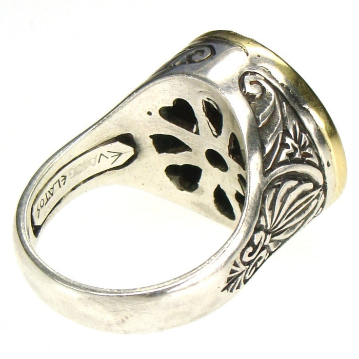 Evangelatos Anthemion Peace Ring Back View
