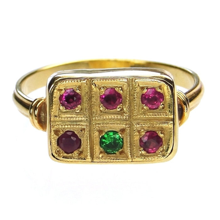 Evangelatos Mixed Stone Panel Ring