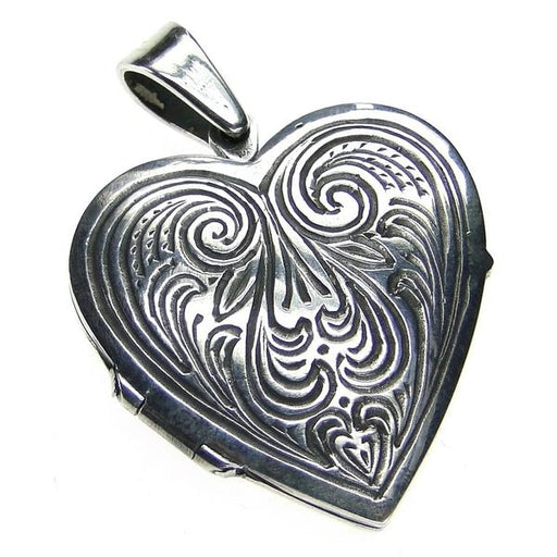 Heart Shaped Dove Locket