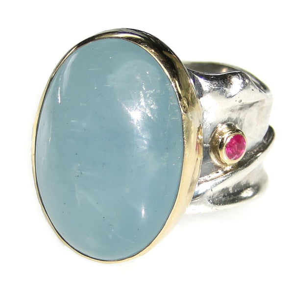 Evangelatos Deep Current Aquamarine Ring