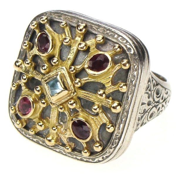 Grand Byzantine Square Ring
