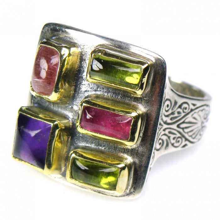 Evangelatos Small Stone Face Ring