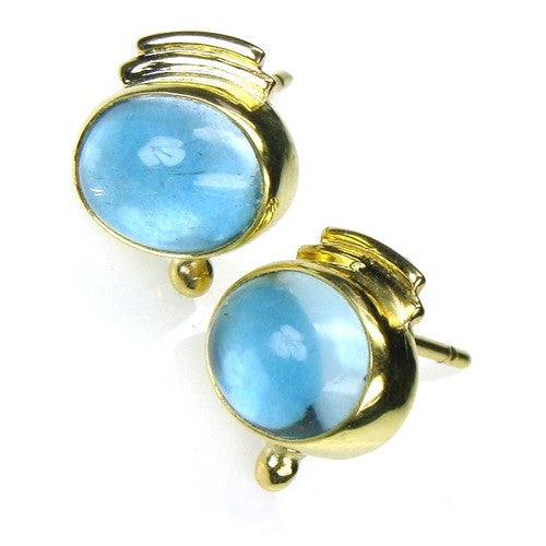 Evangelatos London Blue Topaz Post Earrings