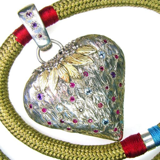 Strawberry Heart Pendant