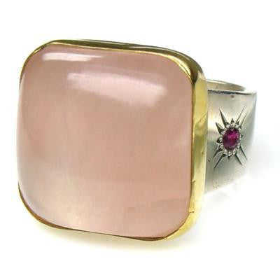 Evangelatos Rose Quartz  Ring