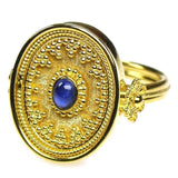 Sapphire Koilos Face Ring