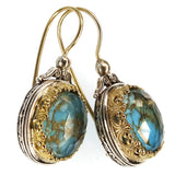 Pop Rocks Oval Scroll Top Earrings