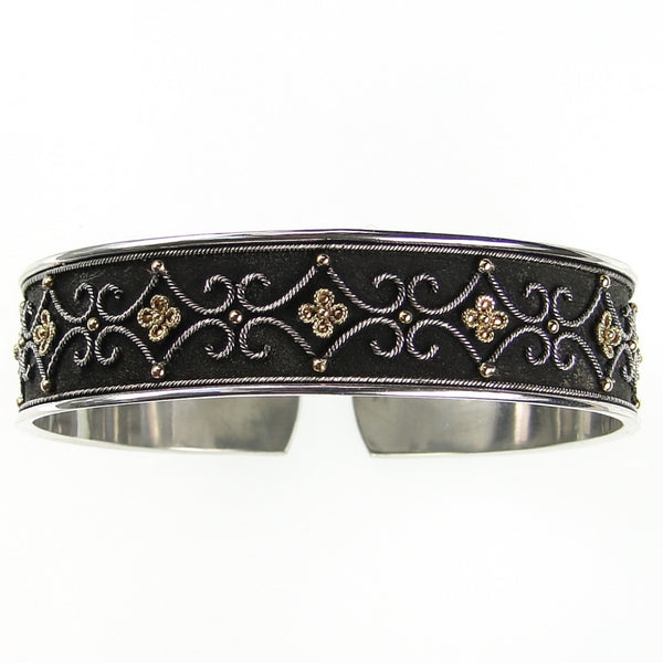 Open Bangle Black Bracelet