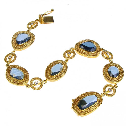 Sapphires and Diamonds Bracelet