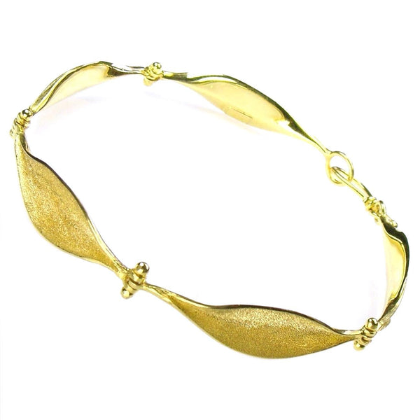 Golden Lily Leaves Bracelet