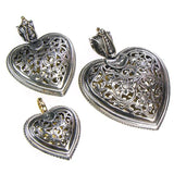 Large Garden Shadows Heart Pendant