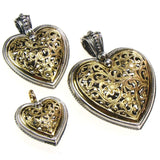 Medium Garden Shadows Heart Pendant