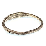 Garden Shadows Thin Bangle Bracelet
