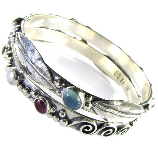 Evangelatos Narrow Spring Meadow Bangle Bracelet