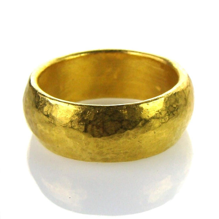 Hammered 24k Gold Band Ring Individual