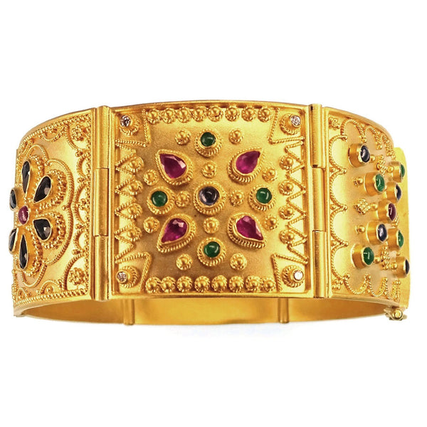 18k Gold Iraklion Tile Bracelet