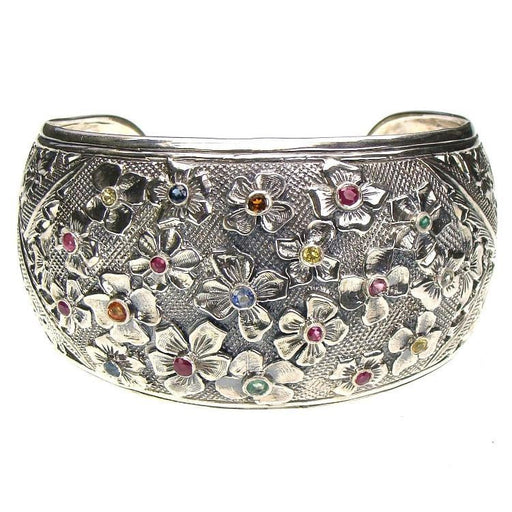 Evangelatos Flower Field Cuff Bracelet