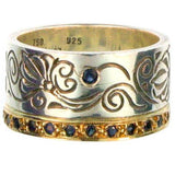 Evangelatos Flower Vine Band Ring