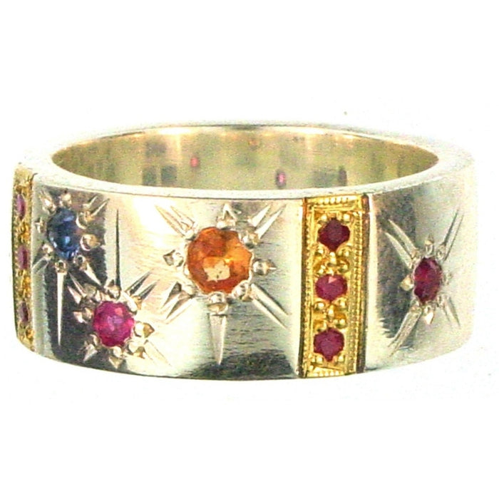 Evangelatos Star Spangled Bar Band Ring