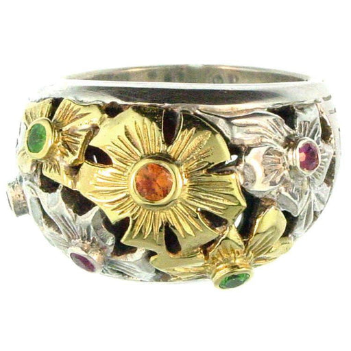 Evangelatos Flower Field Ring