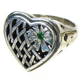 Evangelatos Garden Heart Ring