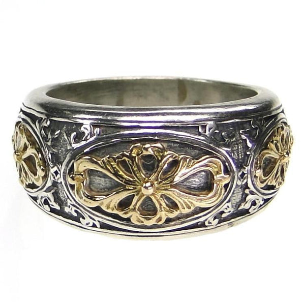 Golden Clover Band Ring
